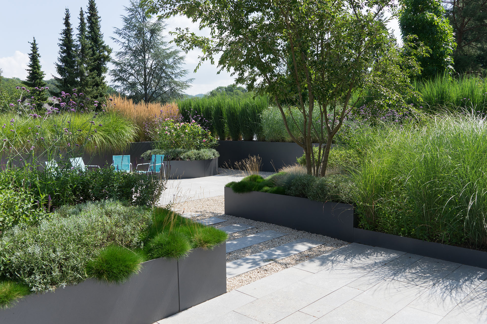 Riqualificazione e manutenzione giardini aziendali Mantova